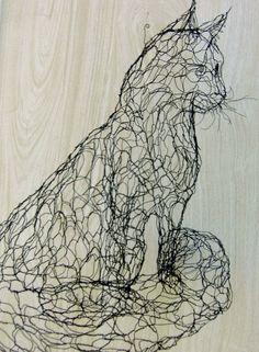 Elizabeth Berrien - wire sculpture