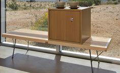 george nelson metal base platform bench