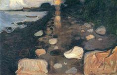 Moonlight on the Shore, 1892 - Edvard Munch, Symbolism