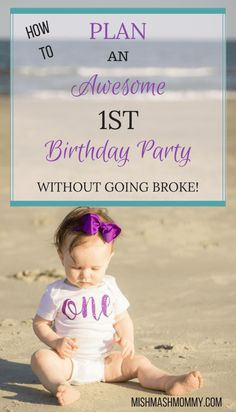How To Plan A 1st Birthday Party Without Going Broke! Save Money While Still Having Fun!