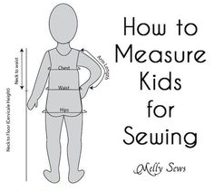 Like adults, few kids fit perfectly within the sizing guidelines for patterns, so Melissa from Melly Sews put together a great video tutorial for measuring kids for sewing!