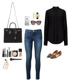 """Untitled #89"" by jessica-camarero on Polyvore featuring Madewell, Frame Denim, Givenchy, Joseph, NARS Cosmetics, Nixon, Chanel, Yves Saint Laurent, CÉLINE and Kate Spade"