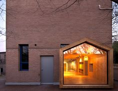 Abandoned brick building is renovated into the beautiful Pinocchio children's center
