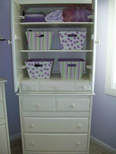 Purple & Green Nursery...like the colors for girls