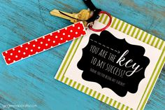 Ginger Snap Crafts: DIY Key Rings & Teacher Gift Printable #happycrafters