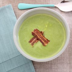 Spring Pea Soup is a great dish to serve as a starter for Easter brunch, when peas are just in season. This version is served with smoked beacon and pea shoots to kick things up a notch.