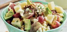 Salada de abacate, maçã, uvas e nozes no Continente ChefOnline - chef.continente.pt