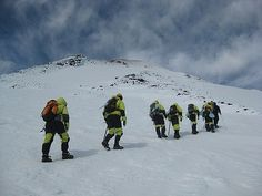 http://www.TravelPod.com - Single file - don't fall in the glacier crevasses by TravelPod member Cannonballs, from Pucon, Chile