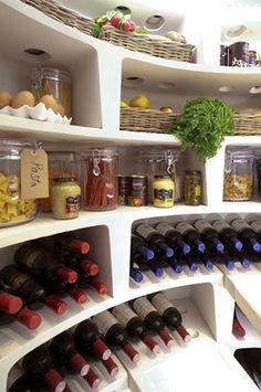 How clever? Spiral wine cellar/ larder. Beautiful !