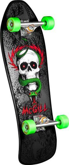 Powell Peralta Mike McGill Complete Skateboard 5th series Bones Brigade deck, Independent Trucks 169, Bones Reds Bearings, G-Bones Green 64mm Wheels, Mini Logo hardware, risers, and grip tape (We will