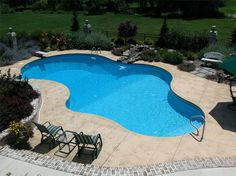 In ground pool in central PA, Goodall Pools & Spas.