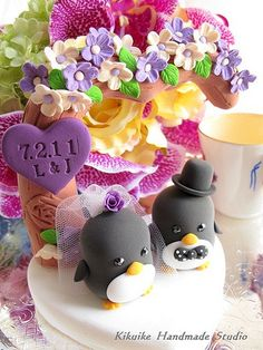 lovely Penguins with love flower tree | by charles fukuyama