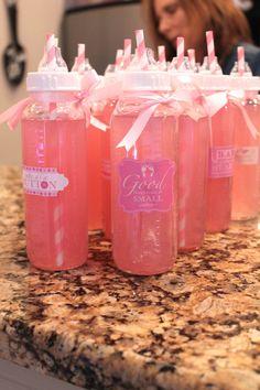 pink lemonade baby shower bottle drinks