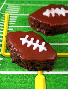 Chocolate Football Cakes - making these for the super bowl party we're attending!