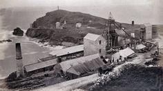 ST JUST UNITED MINE - BAILEY'S SHAFT (c.1880s) | Robert Preston     ✫ღ⊰n