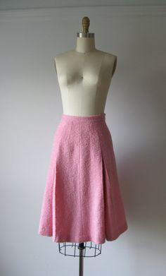 1960s bubblegum pink pleated skirt