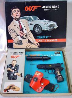 60s Japan Exclusive Toy 007 James Bond Secret Agent Spy Set 1963 KKS Attache | eBay