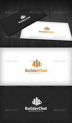 Builder Chat  Logo Design Template Vector #logotype Download it here:  http://graphicriver.net/item/builder-chat-logo/2612484?s_rank=1083?ref=nesto