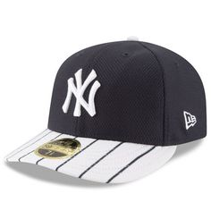New York Yankees New Era Diamond Era 59FIFTY Low Profile Fitted Hat -  Navy White 6149cd9f334a