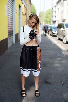 On the Street…..Basketball Shorts, Milan, New York & Paris
