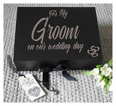 Grooms Box, Wedding Keepsake, Groom Gift Box, Groom Gift Box From Bride, Wedding Gift Box, Husband To Be Gift, Husband Gift Box, Groomsman Gift, , Wedding Gift box, Grooms Box, A4 size, measures 33 x 25 x 11 cms complete with shredded paper and a small heart charm.