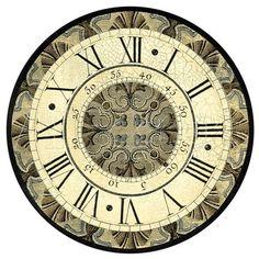 2017 new sale wall clock wooden clocks home decor quartz watch single face still life roman number stickers modern living room Clock Art, Diy Clock, Clock Face Printable, Wall Clock Wooden, Vintage Images, Find Art, Giclee Print, Vintage World Maps, Creations