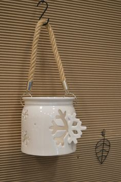 Winter candle holder!
