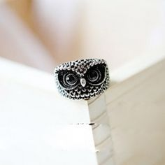 $0.87 New Arrival Simple Fashion Style Owl Pattern Finger Ring #electronic
