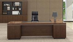 'Lexon' 16 Feet Boardroom Table In Walnut Lexon 16 Seat Conference Table is crafted in wood veneer & chrome edge banding which imparts your workspace a very powerful presence. Office Cabin Design, Home Office Furniture Design, Home Office Table, Modern Office Desk, Home Office Decor, Home Decor, Contemporary Office, Office Seating, Conference Table