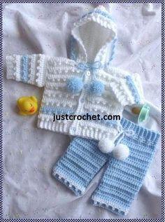 JC85BA Jacket pants Baby Crochet Pattern - via @Craftsy