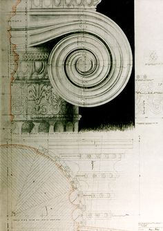 """""""Francis Terry 2004 Pencil tracing paper www.qftarchitects.com """" !!!"""