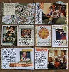Project Life - a good way to scrapbook if you don't have a lot of time.