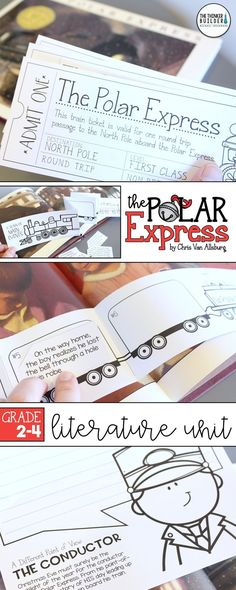 An engaging literature unit for The Polar Express, by Chris Van Allsburg, a favo. - Shop Michael Friermood, The Thinker Builder - Holiday Reading Activities, Christmas Activities, Kindergarten Activities, Classroom Activities, Winter Activities, Christmas Projects, Polar Express Activities, Polar Express Party, Christmas Writing