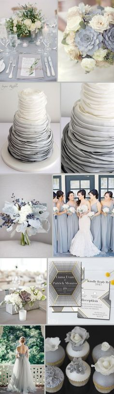 Elegant Gray Wedding Accents