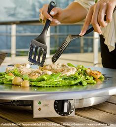 Charmant TEPPANYAKI GRILL PORTABLE FLATTOP | ELECTRIC Indoor + Outdoor Tabletop Use,  Round Or Rectangular.