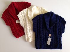 Girl's Cable Knit Waistcoat by BunnieKnitwear on Etsy