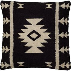Lend a pop of pattern to your sofa, arm chair, or window seat with this jute, wool, and cotton pillow, showcasing a Southwestern-inspired motif....