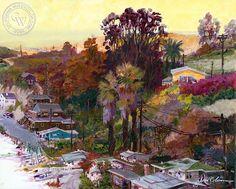 David Solomon - Crystal Cove - California art - fine art print for sale, giclee watercolor print - Californiawatercolor.com