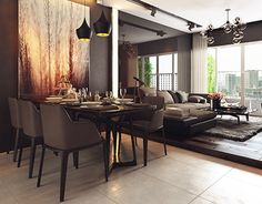 """Check out new work on my @Behance portfolio: """"Black Apartment!"""" http://on.be.net/1NUkTUJ"""