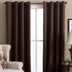 Ultimate Blackout Grommet Top Panel is woven in 3 layers, a tight weave of colored yarns on the front/back, sandwiched around an inner layer of black yarns. Diy Blackout Curtains, Blackout Panels, Yarns, Living Room, Weave, Layers, Warehouse, Espresso, Blue Grey