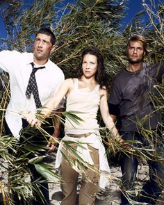 Matthew Fox (Jack), Evangeline Lilly (Kate) & Josh Holloway (Sawyer) from Lost