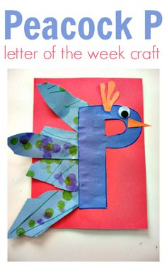 What a fun letter of the week craft for letter p. This blog No Time For Flash Cards has a TON of awesome letter crafts that kids can do and have fun doing.