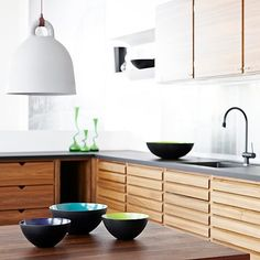 Buy Normann Copenhagen Bell Lamp online with Houseology's Price Promise. Full Normann Copenhagen collection with UK & International shipping. Kitchen Dining, Kitchen Decor, Kitchen Cabinets, Wooden Kitchen, Wood Cabinets, Timber Kitchen, Nice Kitchen, Stylish Kitchen, Kitchen Island