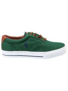 f5cb9eefe27650 Polo Ralph Lauren - aktueller Sneaker in Dunkelgrün Sneaker Herren