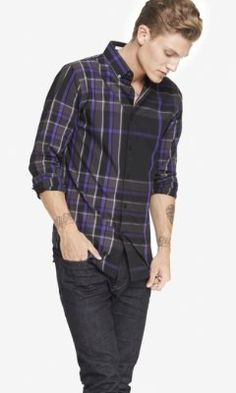EXTRA SLIM PLAID SHIRT from EXPRESS
