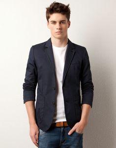 Blue Blazer, White Shirt, Jeans
