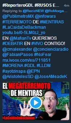 PRIANRDnarcoZ: #ReporteroGDL #RUSOS EN #GDL #RezizteK on Twitter VS #PRIANarcoZ:#GDL #LLDM #MORENA tmblr.co/ZgINkh2Vd08NA @infowars #TERREMOTO DE #MENTIRAS #LaCaidaDeBackman mx.ivoox.com/es/711851 #ayotzinapa @EPN @AristotelesSD #MKULTRA #TECNOACOSO @crnalexander @concienciaradio @FabianPasos