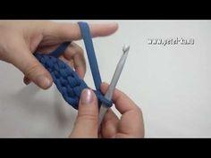 Сумка с клапаном из пышных столбиков, ч. 1 - YouTube