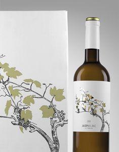 """Jaspi Blanc"" wine label & packaging. #wine #packaging #grapes"