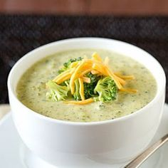 Weight Watchers Absolutely Most Delicious Broccoli Cheese Soup